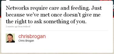 Chris Brogan Tweet