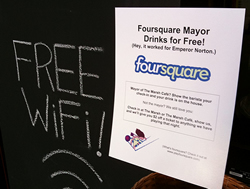 Foursquare mayor drinks for free