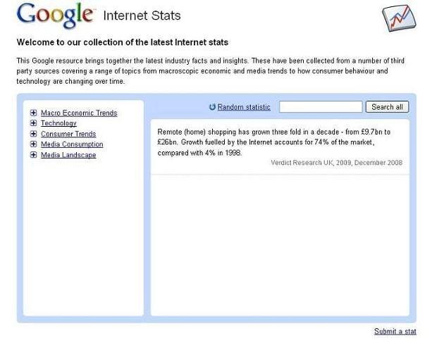 google internet stats