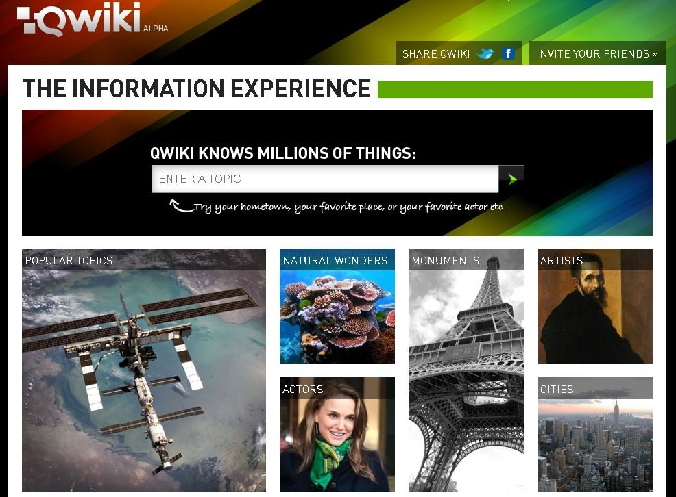 Qwiki - The Information Experience