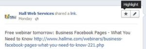 Highlighting Facebook Posts