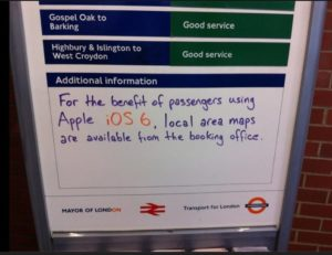 Apple Maps Sign