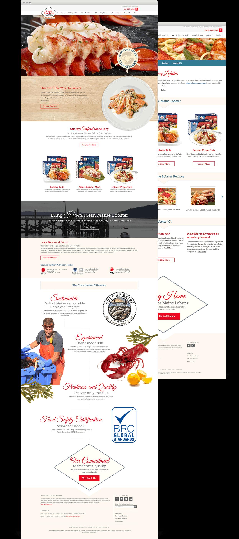 Cozy Harbor Website Layouts