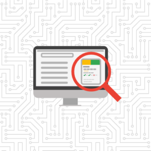 google my business desktop with magnifying glass graphic