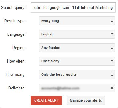 Manage Google Alerts on Other Sites