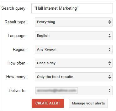 Google Alerts for Brand Management