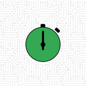 green stopwatch graphic
