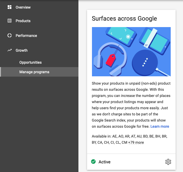 surfaces across google opt-in